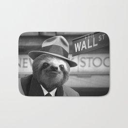 The Sloth of Wall Street Bath Mat