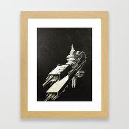 An Homage to 1980's Starships Framed Art Print