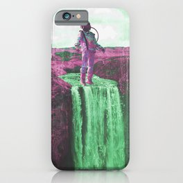 The astronaut's colorful waterful iPhone Case