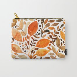 Autumn watercolor leaves Carry-All Pouch