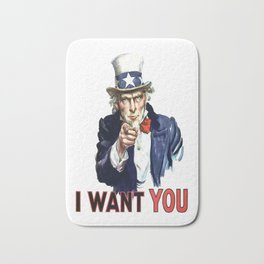 Uncle Sam I Want You Bath Mat