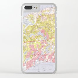 Dennis and Yarmouth Massachusetts Map (1974) Clear iPhone Case