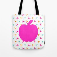 apple Tote Bags featuring *Apple* by Mr and Mrs Quirynen