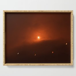 Solar Eclipse over Somerset, 2015 Serving Tray