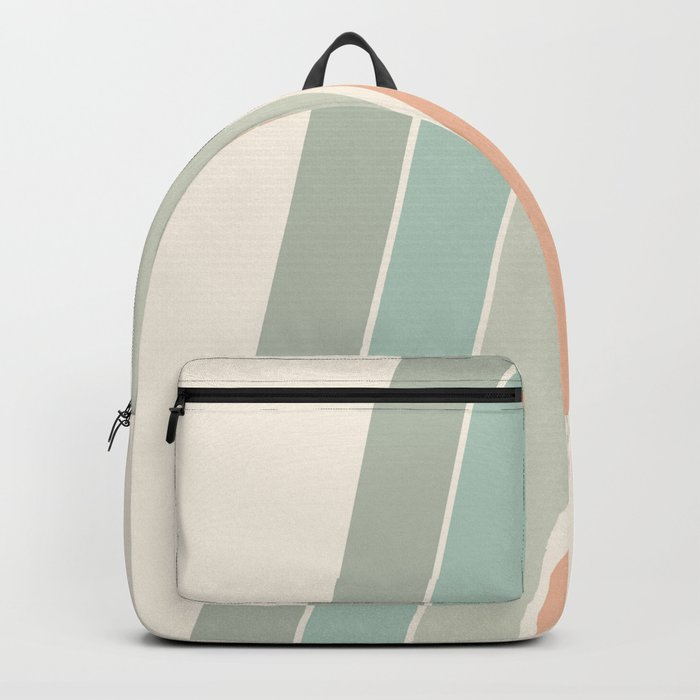 Trippin' - retro 70s socal minimal striped abstract art california surfing vintage Rucksack