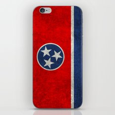 Tennessee State flag in Vintage Retro Style iPhone & iPod Skin
