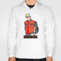 mcfly Hoodies featuring Marty McFly by Pendientera