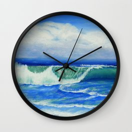 A Wave To Catch Wall Clock