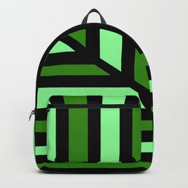 Green Perspective Line Art Backpack
