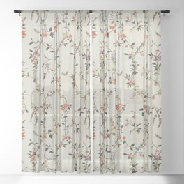 Floral Piece late 18th century Chinese for French market Sheer Curtain
