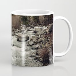 Winter Begins - River Mountain Nature Photography Coffee Mug