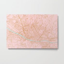 Firenze map Metal Print