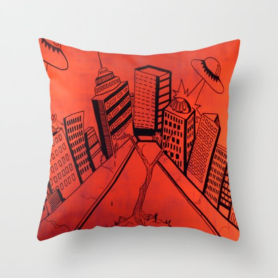 Crayliens Throw Pillow