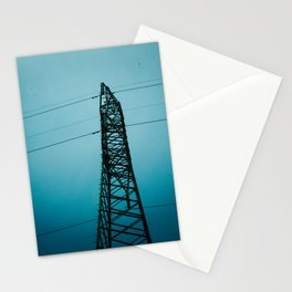 Power Lines in Ninh Binh Stationery Cards