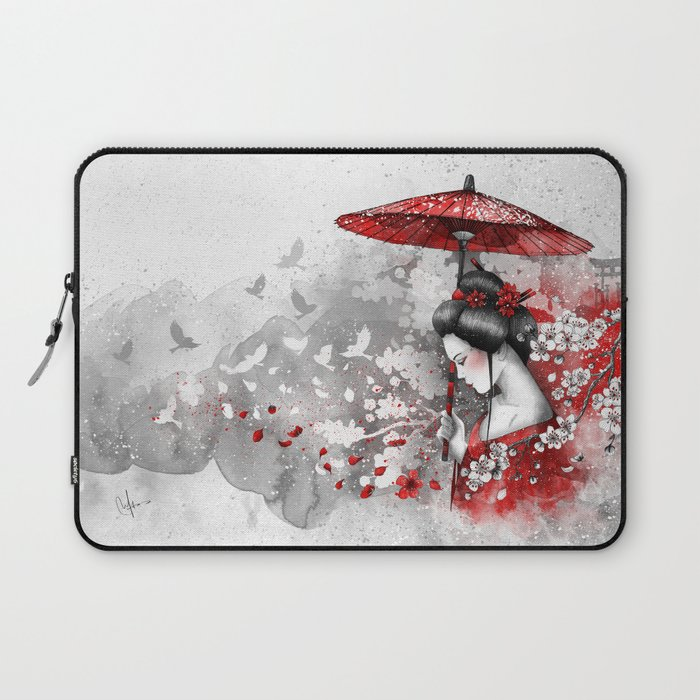 Falling blossoms Laptop Sleeve