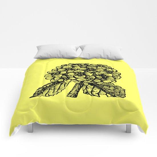 Yellow Hydrangea Comforters