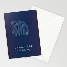 Jurassic Park - hacker crap Stationery Cards