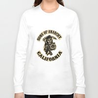 sons of anarchy Long Sleeve T-shirts featuring Sons of anarchy Motorcycle club by OverClocked