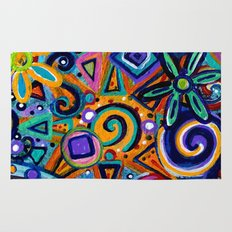 Flower Abstract Rug
