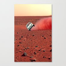 first wheelie on mars Canvas Print