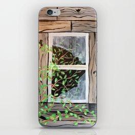 Old cabin window iPhone Skin