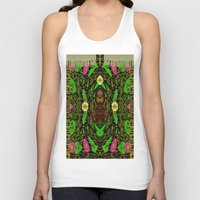 grafitti Tank Tops featuring Lady Pandas Jungle grafitti by Pepita Selles