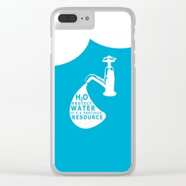 WATER CONSERVATION Clear iPhone Case