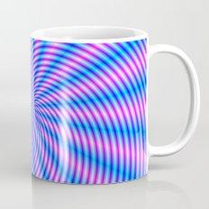 Pink and Blue Spiral Rays Mug