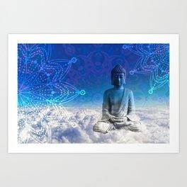 Mandala Floating Buddha Art Print