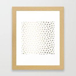 Golden Hot Spots Framed Art Print