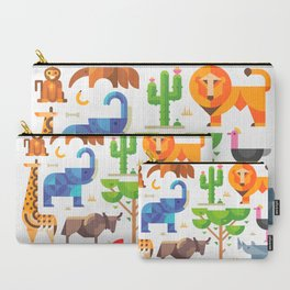 Geometric animals in savannah Carry-All Pouch