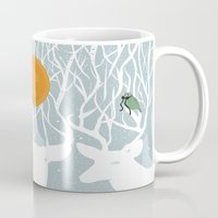pixies Mugs featuring All Good Deer go to Heaven by Cocorrina