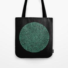 Primitive Green Circle Tote Bag