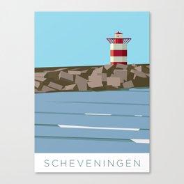 Scheveningen surf spot Canvas Print