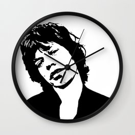 "Sir Michael Philip ""Mick"" JaggerBlack White Face, Music, Art Wall Clock"
