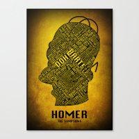 homer Canvas Prints featuring Homer by Matthew Cridland