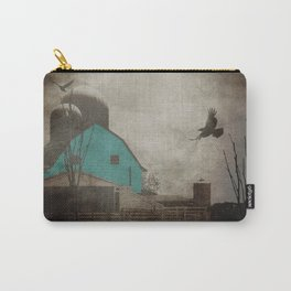 Rustic Teal Barn Country Art A158 Carry-All Pouch