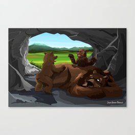 Grizzies Canvas Print