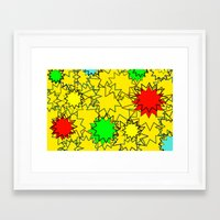 yellow pattern Framed Art Prints featuring Yellow pattern  by Vivian Fortunato