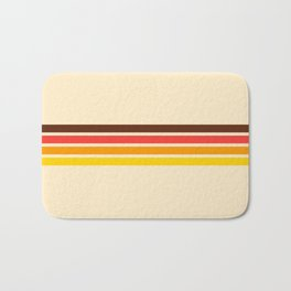 African Retro Stripes Bath Mat