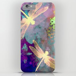 Painting Dragonflies and Orchids A iPhone Case