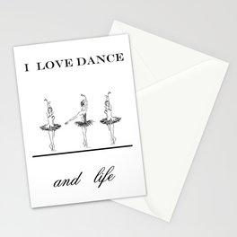 I love dence Stationery Cards