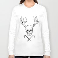 creepy Long Sleeve T-shirts featuring Creepy Xmas by Evgenia Chuvardina