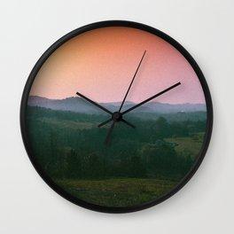 Rainbow Haze Wall Clock