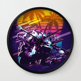 Jax league of legends game 80s palmvintage Wall Clock