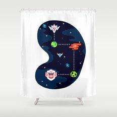 Overworld: Space Shower Curtain