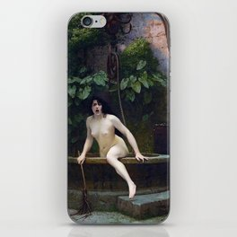 TRUTH COMING OUT OF HER WELL TO SHAME MANKIND - JEAN-LEON GEROME iPhone Skin
