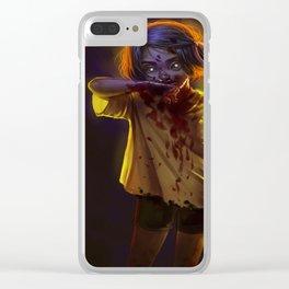 Vampire Girl (#Drawlloween2016 Series) Clear iPhone Case