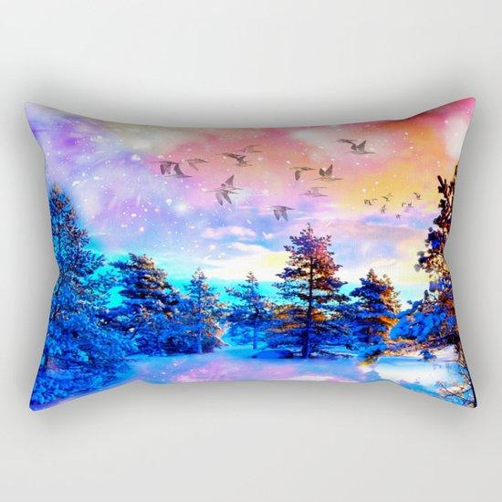 Dancing Birds Rectangular Pillow