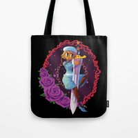 sword Tote Bags featuring Sword by S.A.